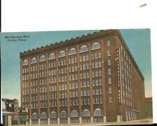 Old linen postcard, Merchandise Mart Dallas texas,,,8 story brick bldg