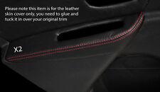 Rojo Stitch 2x Puerta Trasera Descansabrazos Skin Tapa se ajusta Renault Megane Mk3 08-13