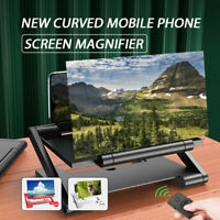 Folding Mobile Phone Screen Magnifier 3D HD Amplifier Stand Bracket For iPhone