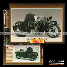 #036.08 Fiche Moto SIDE-CAR BSA 1000 G 14 1935-1939 Classic Motorcycle Card