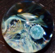 """Gateson Recko 3"""" Inch Universe Marble Borosilicate Glass Art Boro MASSIVE!!"""
