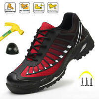 Womens Safety Shoes Steel Toe Cap Work Boots Indestructible Sport Mesh Sneakers