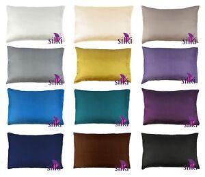 1x 100% Pure 25 momme Mulberry Silk Face Beauty Pillowcase Queen 50x75cm w. ZIP