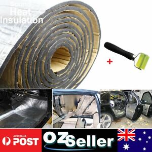 1pc Sound Deadener Wheel Roll Tools + Car Insulation Heat Noisy Shield Foam 2m2