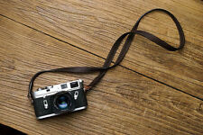 Handmade Italian Genuine Leather Camera Shoulder Neck Strap for Leica Fuji Sony
