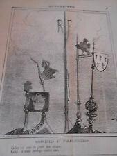 Caricature 1872 Girouettes et Pratonnerres le jouet des orages