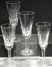 4 VINTAGE WATERFORD CRYSTAL LISMORE CONTINENTAL CHAMPAGNE FLUTES GLASSES IRELAND