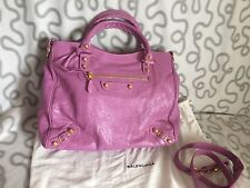 ~NWT~ 100% Authentic Balenciaga Giant 12 City Velo Crossbody Bag /Pch Rose BerL