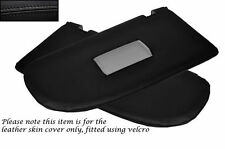 BLACK LEATHER 2X SUN VISORS LEATHER SKIN COVERS FITS VW VOLKSWAGEN CADDY 04-10