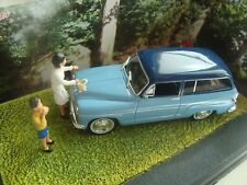 DIORAMA IXO 1/43 THE ROAD BLUE NATIONAL 7 THE HEIST CROUTE SIMCA P 60 RANCH