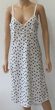 M&S Archive Alexa Chung Olive Cream Slip Dress Size 10 Vintage Retro BNWT £39.50