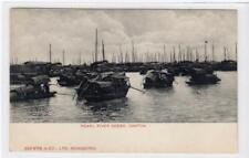 PEARL RIVER SCENE, CANTON: China postcard (C47232)