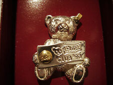 Steiff Club Bär 1993 Pin 925 Sterling Silber Neu