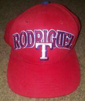 Rare Vintage Ivan Pudge Rodriguez Starter Snap Back Hat Cap Texas Rangers MLB