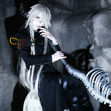 Anime for Butler Kuroshitsuji Undertaker Silver White Long Christmas Cosplay Wig