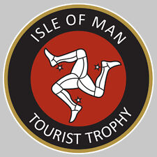 ISLE OF MAN TOURIST TROPHY ILE DE MAN STICKER RACING TRACK 7,5cm (IA049)