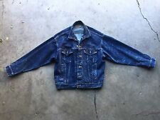 Vintage Levi's Acid Splatter Wash Denim Trucker Jean Jacket Large 70507 0229