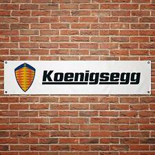 EXTRA LARGE Koenigsegg Automotive Logo garage workshop PVC banner sign ZC144