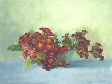 Gemälde Bild Stilleben um 1900 Öl auf Leinwand Blumen