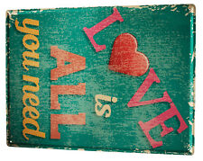 Tin Sign XXL Wedding  All you need