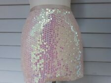 Victoria Secret Pink Sequin Mini Skirt Sz 8 Summer Pool Party Sexy Mod