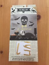 Halloween Self Adhesive Foil Wall Art For Walls,Mirrors,And More.All Hallows Eve