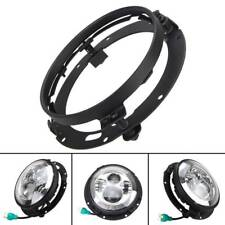 """7"""" Inch LED Headlight Adapter Mounting Ring Bracket Head Lamp Daymaker Round"""