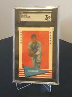 1961 Fleer #25 Bob Feller Baseball Greats HoF Pitcher Cleveland Indians SGC 3 VG