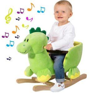 Dinosauro a Dondolo Cavalcabile Peluche Giocattolo Bambini con Effetti Sonori