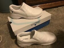 Nurse Mates Shoes Womens Size 8W White Leather Occupational Comfort