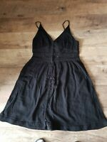 Gap cotton laces lined  black  summer  knee length dress size 14