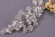 Crystal Hair Vine Bridal Headpiece Sliver Headdress Wedding Accessories 1 Piece