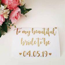 Large VINYL ONLY A5 Transfer Bride Bridesmaid Groom Wedding Birthday Box Sticker