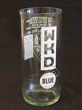 WKD ORIGINAL BLUE VODKA TUMBLER GLASS (NEW DESIGN) - 100% RECYCLED! -PUB/BAR/BBQ