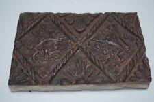 Rare 1598 Dutch Stoneware Pottery Hearth Tile - Heraldic rampant Lions - Castle