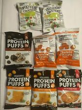 8 Bags Shrewd Food Protein Puffs/Snacks Assorted Low Carb Keto 2-3g carbs #B