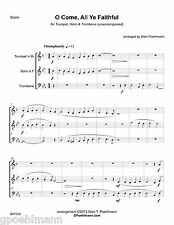 8 Christmas arrangements for BRASS TRIO. Sheet music with Free PRIORITY shipping
