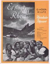 Es singt der Rhein. Rheinlieder-Potpourri für Blasorchester. Stimmensatz - Noten