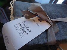 1 West Elm washed cotton Luster Velvet standard  sham slate     New