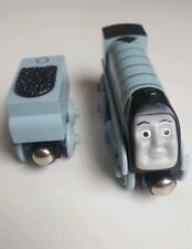 SILVER SPENCER and TENDER  Learning Curve  Wooden Train Engine ( Brio Thomas)