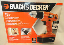 BLACK & DECKER #GC1801 18V CORDLESS DRILL/DRIVER W/ BATTERY & CHARGER, BRAND NEW
