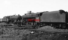 PHOTO  BLACK FIVES   45436 AND 45353 AT LOSTOCK HALL 7/68 TWO ABANDONED STANIER