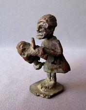 Antique 19th Century Ashanti Bronze Figural Gold Weight Headhunter