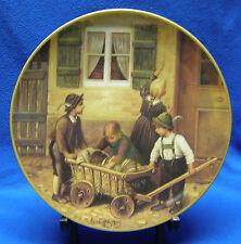 4 Franz von Defreggers German-Made Kinder-Portraits Decorated China Plates