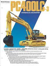 Equipment Brochure - Komatsu - Pc400Lc-3 - Hydraulic Excavator - c1986 (E2907)