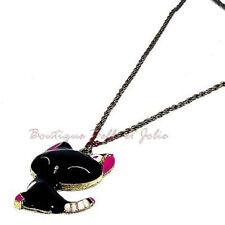 Markenlose Modeschmuck-Halsketten & -Anhänger aus Strass Katzen