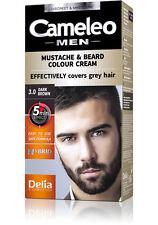 Delia Cameleo COLOUR CREAM Beard&Mustache-Grey Hair Cover Dye Cream 5Min Effect