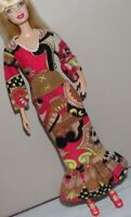BARBIE DOLL VINTAGE FASHION MOD PRINT PEASANT DRESS VEST CLONE FAB LU MADDIE