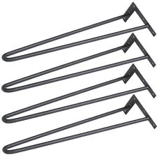 10mm Solid Metal Bar Skateboard Hairpin Table Legs Set of 4 Black 16""