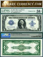 """1923 $1 Silver Certificates """"Change Over Pair"""" FR-237 FR-238 PMG Graded"""